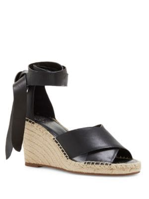 Leddy Leather Espadrille Wedge Sandals by Vince Camuto