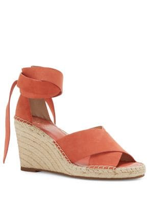 Leddy Suede Espadrille Wedge Sandals by Vince Camuto