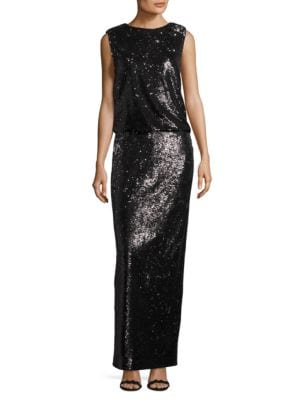 Cory Sleeveless Sequin Gown by Rachel Zoe