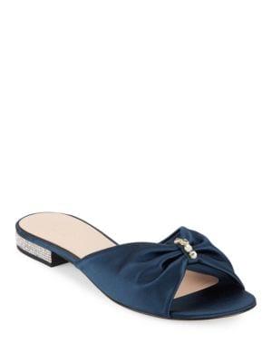 Fenton Blust Satin Slide Sandals by Kate Spade New York