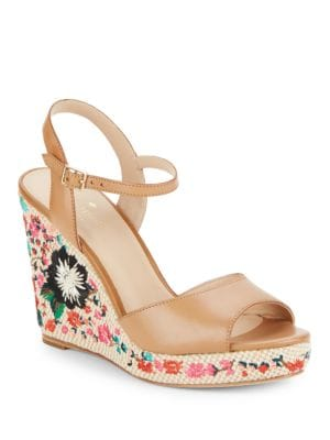 Jardin Leather Wedge Sandals by Kate Spade New York