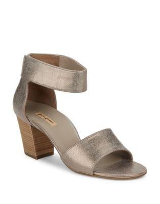 Mackenzie Leather Block Heel Sandals by Paul Green