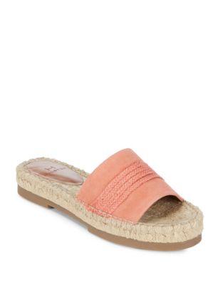 Betty Espadrille Slide Sandals by H Halston