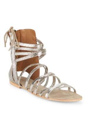 Photo of Juliette Metallic Leather Sandals by Free People - shop Free People shoes sales