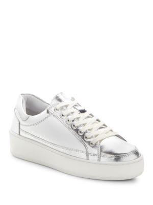 Photo of Letterman Leather Sneakers by Free People - shop Free People shoes sales
