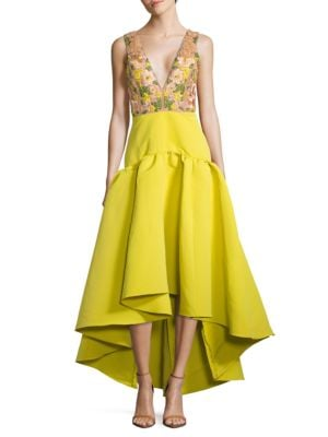 Floral Embroidered Gown by Alex Evenings