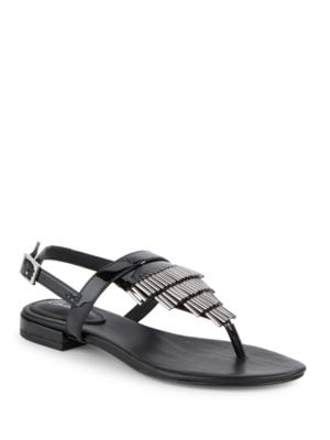 Evonie Leather Sandals by Calvin Klein