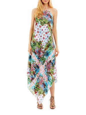 Scenic Print Handkerchief Dress by Nicole Miller New York