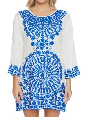 Embroidered Roundneck Tunic by Ella Moss