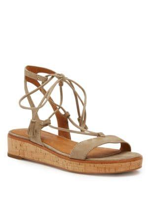 Photo of Miranda Suede Gladiator Sandals by Frye - shop Frye shoes sales