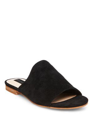 Calahan Leather Slide Sandals by Steven by Steve Madden