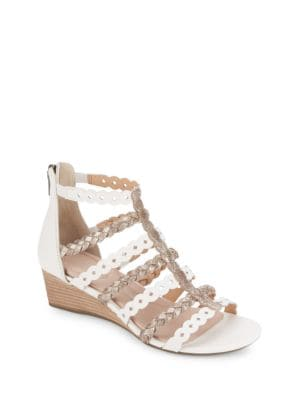 Braided Leather Wedge Sandals by Rockport