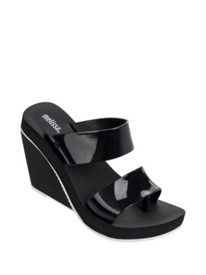 Ankle-Buckle Wedge Sandals by Melissa