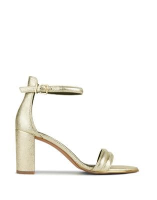 Lex Metallic Leather Sandals by Kenneth Cole New York