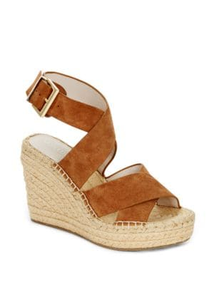 Oda Leather Espadrille Platform Wedge Sandals by Kenneth Cole New York