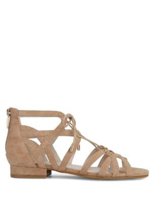 Valerie Lace-Up Suede Sandals by Kenneth Cole New York