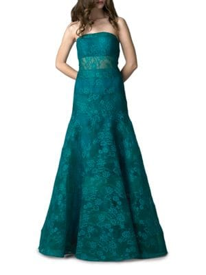 Strapless Lace Gown by Basix