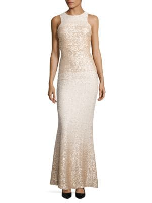 Sequined Racerback Dress by Badgley Mischka Platinum