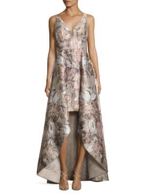 Floral Printed Gown by Aidan Aidan Mattox