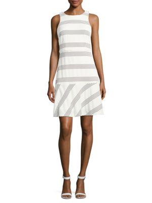 Striped Dropped Waist Dress by Jessica Simpson