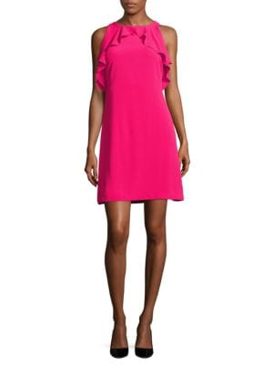 Solid Ruffled Sleeveless Dress by Jessica Simpson