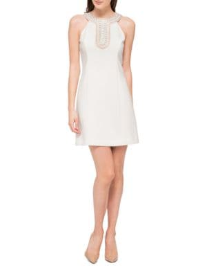 Sleeveless Embellished Neck Dress by Jessica Simpson