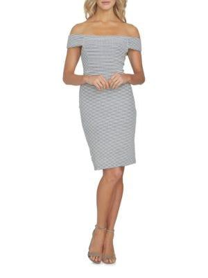 Stretch Ticking Stripe Bodycon Dress by Cynthia Steffe