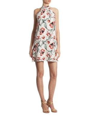 Monte Floral Terrace Halter Dress by Cynthia Steffe