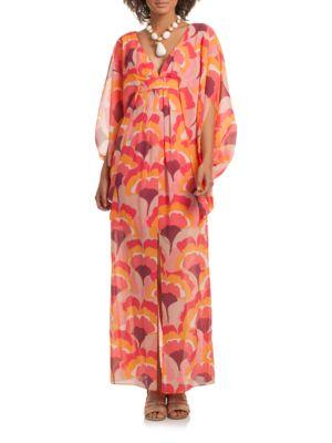 Blossom Stretch-Silk Caftan Gown by Trina Turk