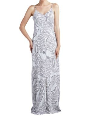 Sequoia Leaf Printed Sleeveless Dress by Paper Crown