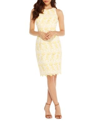 Floral Jewelneck Dress by Maggy London