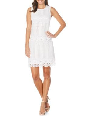 Scalloped Lace Dress by Lauren Ralph Lauren