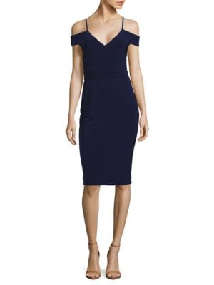 Ruched Cold-Shoulder Sheath Dress by Laundry by Shelli Segal