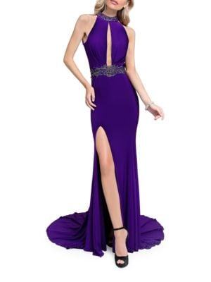 Beaded Train Gown by Glamour by Terani Couture