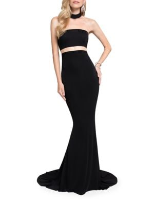Mockneck Train Gown by Glamour by Terani Couture