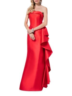 Strapless Back-Zip Gown by Glamour by Terani Couture