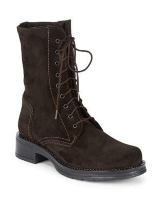 Ginny Suede Mid-Calf Boots by La Canadienne