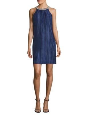 Jewelneck Trapeze Dress by Aidan Aidan Mattox