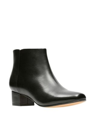 Chartlilac Leather Booties by Clarks