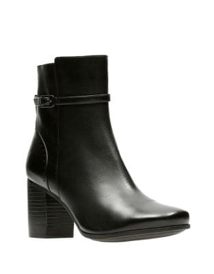 Diana Leather Ankle Boots by Clarks