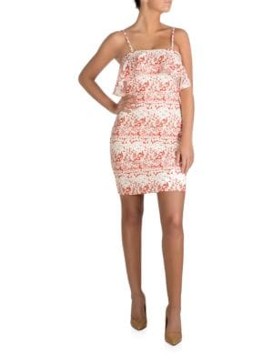 Floral-Print Flap-Over Dress by Guess