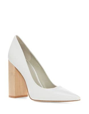 Valencia Leather Block Heel Pumps 500087039170