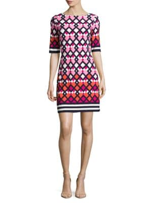 Three Quarter Sleeve Shift Dress by Laundry by Shelli Segal