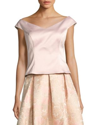 Crepe Cropped Top by Eliza J