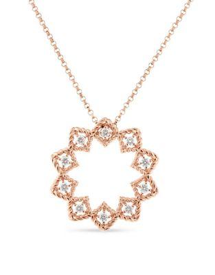 0.22 TCW Diamond & 18K Yellow Gold Necklace