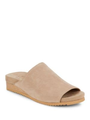 Zarah Suede Mules by H Halston