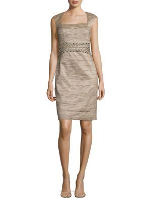 Embellished Crinkle Dress by Eliza J