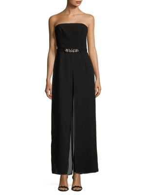 Belted Strapless Jumpsuit by Vince Camuto