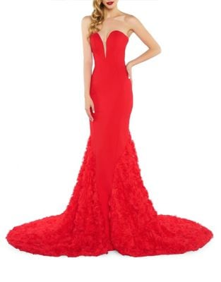 Strapless Sweetheart Gown by Mac Duggal