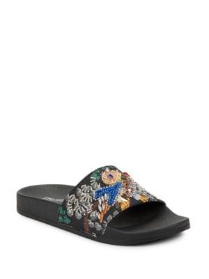 Photo of Sparkly Beaded Slides by Steve Madden - shop Steve Madden shoes sales